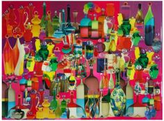 Robert Swedroe Bottled Up (2008) Mixed Media on Board 23″ x 24″ $6,000  Inquire about this piece.
