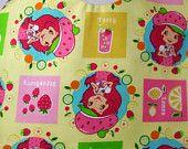 Bib for Baby or Toddler Strawberry Shortcake Handmade