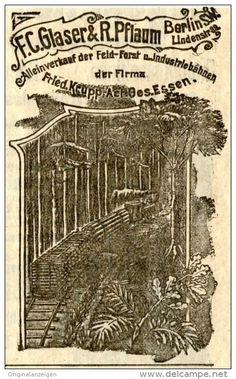Original-Werbung/ Anzeige 1907 - KRUPP FELD- FORST -UND INDUSTRIEBAHNEN / GLASER & PFLAUM BERLIN - ca. 55 x 90 mm