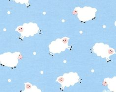 Little Lambs - Clouds of Wool - Sky Blue - FLANNEL