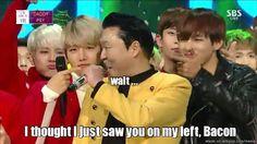 Psy winning his award like... Am I hallucinating?