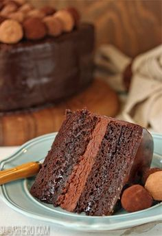 Chocolate Blackberry Truffle Cake