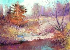 Autumn on Ruby Creek 2014 by Tom Christopher Pastel ~ 18 x 24