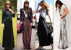 black maxi skirt outfits - Google Search
