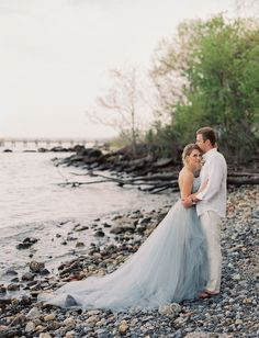 East Made Event Company Maryland Coastal Inspiration Styled Shoot as featured on Green Wedding Shoes. Photo by CJK Visuals, Blue Oceane Wedding Dress by Carol Hannah. Beach wedding inspiration.