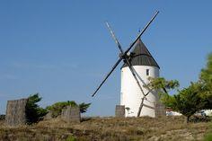 Sur l'ile de Noirmoutier, les moulins ne manquent pas. Parmi eux, se trouve le moulin du Both. © Brigitte Bonaventure