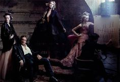"""Annie Leibovitz's editorial focusing on the splendor of the regal: From 2004′s Vogue US """"French Twists"""" avec monsieur Gerard Depardieu"""