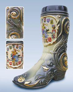 Jarra de cerveza alemana en forma de vaso tradicional alemana negra, jarra 0,4 litros ZO 1545/600: Amazon.es: Hogar