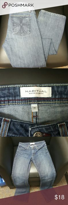 Habitual Dark Wash Deep End Boot Cut ~ Size 26 Habitual Dark Wash Deep End Boot Cut Jeans   Size : 26  Amazing jeans. Only worn about 3 times. Habitual Jeans Boot Cut
