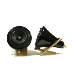 Black Ceramic Speakers by Joey Roth. Exclusive colorway for Fab - $360