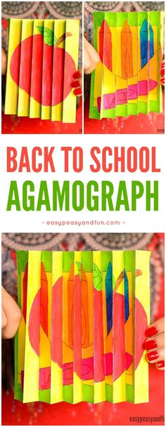 Back to School Agamograph Template! A fun and easy craft for back to school with kindergarten and first grade kids!