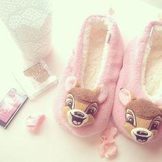 Bambiiii!!! Love him!!! Cute&girly slippers.