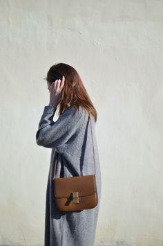 Céline bag / ASOS sweater dress
