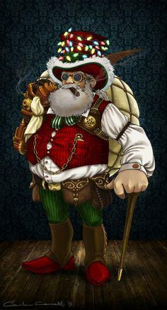 Steampunk Tendencies | Steampunk Santa by Camilla Ceccatelli #Steampunk #Santa