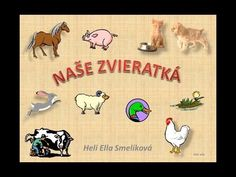 NASE ZVIERATKA - YouTube Slovak Language, Preschool Education, My Roots, Diy For Kids, Animals And Pets, Homeschool, Youtube, Forks, Jar