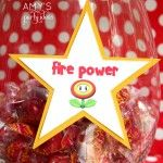 super mario party ideas candy bar fire power