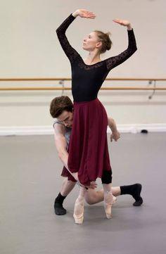 The Australian Ballet Natasha Kusch and Jarryd Madden rehearsing John Neumeier's Nijinsky. Photography Lynette Wills