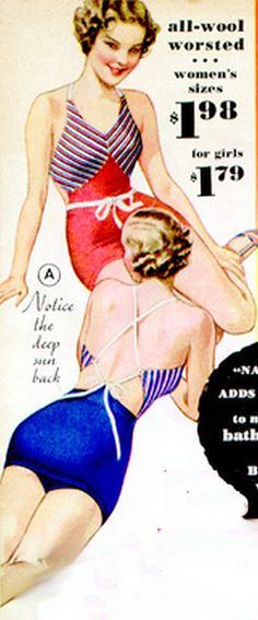 1930s swimsuits - wool