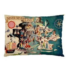 Neverland Peter Pan Pillow Cases (2 Cases) on Etsy, $40.00 @urfriendhannah I thought of you & baby Jude!!!