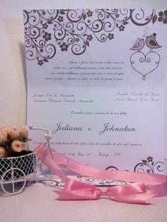 Convite de Casamento Birds