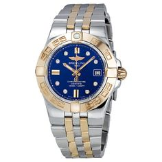 Breitling Galactic 30 Diamond Blue Dial Ladies Watch – Goldia.com