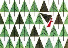 Christmas Card (1952) | Illustrator: Charley Harper