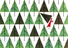 Christmas Card by Charley Harper, 1952 For The Schaible Company