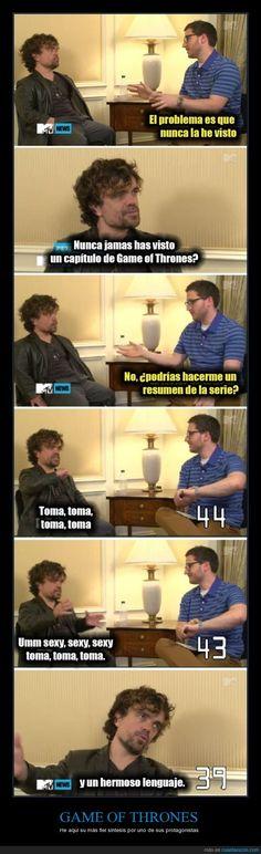 ¿De qué va Game of Thrones, Tyrion? - He aquí su más fiel síntesis por uno de sus protagonistas