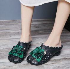 2017 women s fashion slippers genuine leather shoes in summer comfortable  high quality Handmade shoes free -in Slippers from Shoes on Aliexpress.com  ... 7b0f48dde6d0