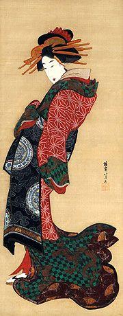 蹄斎北馬 Teisai Hokuba  (1770-1844)『遊君立姿図』