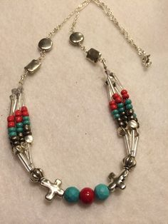 20 inch Layered Turquoise and Coral Red30% OFF at https://www.etsy.com/your/shops/PCMRNTREASURESJEWELS/coupons?ref=seller_platform_hdr#PCMRNTREASURES