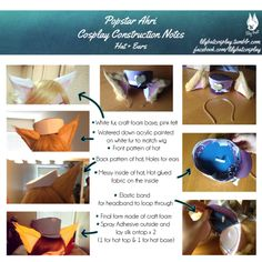 Starting things off with Popstar Ahri's hat + ears! Why? Because it's at the top of her head and I never understood how people made hats. I still don't think I do haha. But here is how I put mine together.Let me know if anyone has some pointers or better ways to do hats, I'm always open to new techniques (Ear base made with help from Jinglebooboo. She also casted all the resin hearts on my Ahri cosplay)
