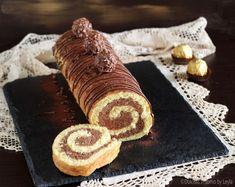 Il Rotolo Rocher è un dolce abbastanza facile e veloce, perfetto per un'occasione speciale o come torta di compleanno. Goloso ed elegante.