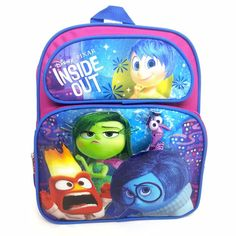 Disney Pixar Inside Out Backpack Small Girls Pink Front Side Outside Pockets Kids Backpacks, School Backpacks, Inside Out Characters, School Supplies, Office Supplies, Preschool Backpack, Disney Inside Out, Small Backpack, Classic Tv
