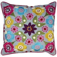 Stunning embroidered pillow