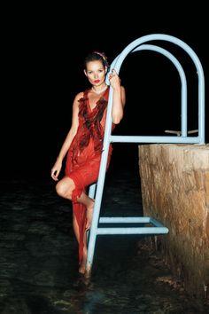 Kate Moss in a Vera Wang Dress - Kate Moss Models Fall 2012 Fashion - Harper's BAZAAR