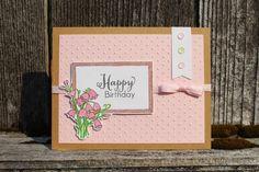 Handmade card by D using the Framed Florals set from Verve.  #vervestamps