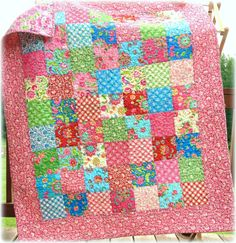 Baby Girl Quilt Gypsy Girl via Etsy