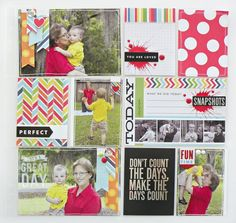 pocket pages in Michaels stores. mambi scrapbook layout on me & my BIG ideas blog.
