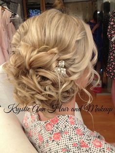 Hair: www.krystieann.com  Wedding hair, bridal hair, bridal updo, wedding updo…