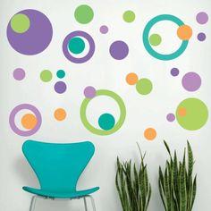 paredes con círculos