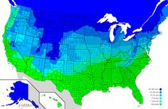 This map shows how much snow it takes to cancel school where you live