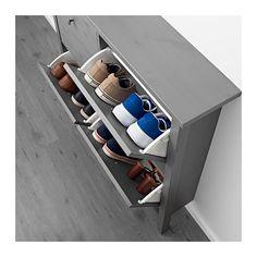 HEMNES Schuhschrank 4 Fächer - grau lasiert - IKEA