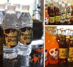 Halloween drink labels {free download}