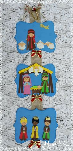 Spanish calsss Christmas Nativity Scene, A Christmas Story, Felt Christmas, Christmas Holidays, Christmas Ornaments, Fun Crafts For Kids, Christmas Crafts For Kids, Diy For Kids, Christmas Decorations