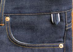 Companion Handcrafted Denim - Selvedge keyhanger loop.