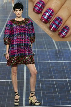 Is this taking my tartan obsession too far? ! No, surely not.  MANICURE MUSE: Chanel Spring '13