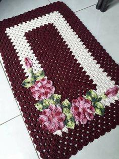 This Pin was discovered by Yol Crochet Ripple, Tunisian Crochet, Afghan Crochet Patterns, Crochet Squares, Baby Blanket Crochet, Crochet Doilies, Crochet Baby, Knit Crochet, Yarn Crafts