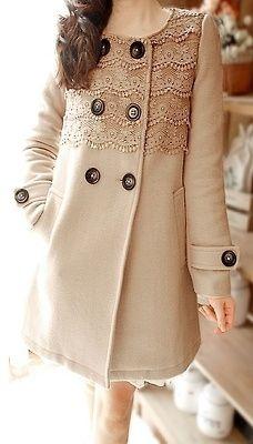 Пальто с кружевом
