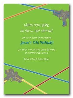 Laser tag free printables laser tag invitations printable free laser tag birthday invitations by invitation consultants item ic nw filmwisefo Images